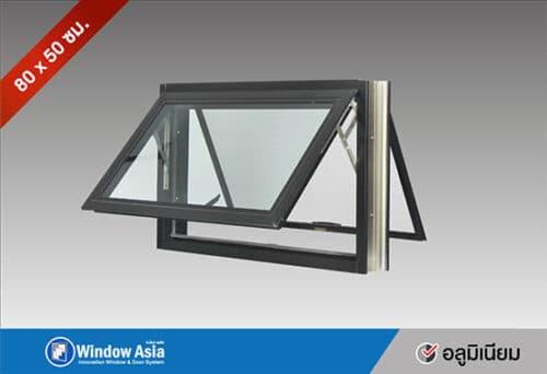 หน้าต่างบานกระทุ้งอลูมิเนียม 80x50 สีดำ
