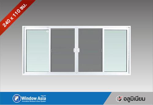 หน้าต่างบานเลื่อนอลูมิเนียม 240x110 สีขาว