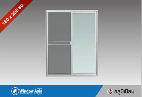 ประตูอลูมิเนียมบานเลื่อน 160x205 สีขาว