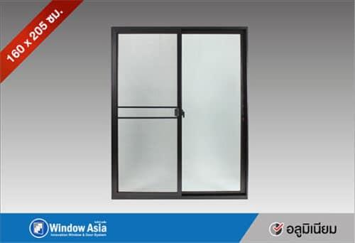 ประตูอลูมิเนียมบานเลื่อน 160x205 สีดำ