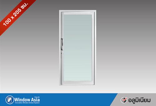 ประตูอลูมิเนียม บานสวิงเดี่ยว 100x205 ซม. สีขาว